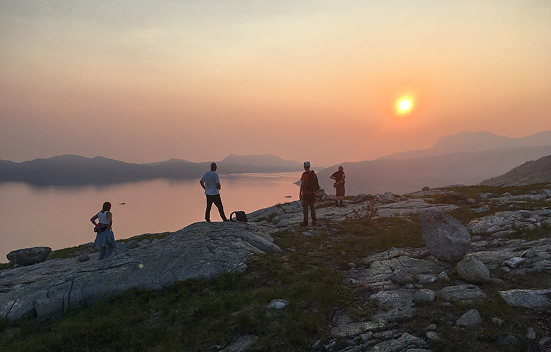 Solnedgang over Velfjorden