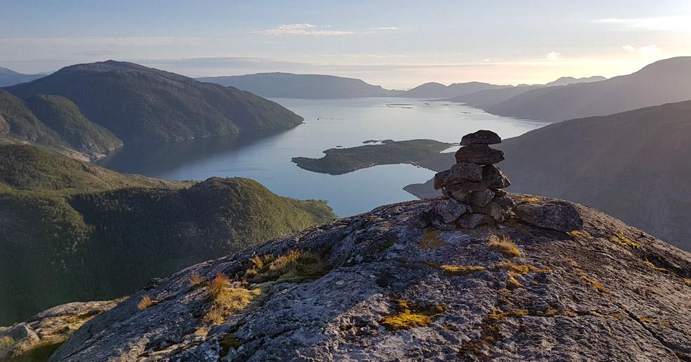 Utsikt fra Gravtinden i Velfjord