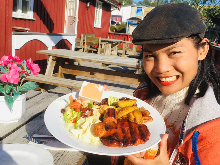 Grilltallerken hos Persplassen i Hommelstø