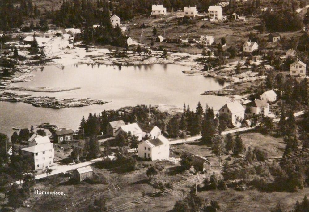 Rugåshylla på 1950-tallet