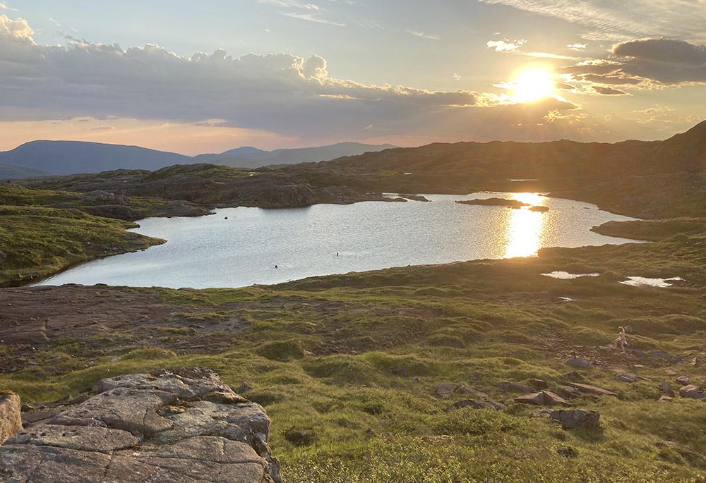 Badevann på Sausfjellet